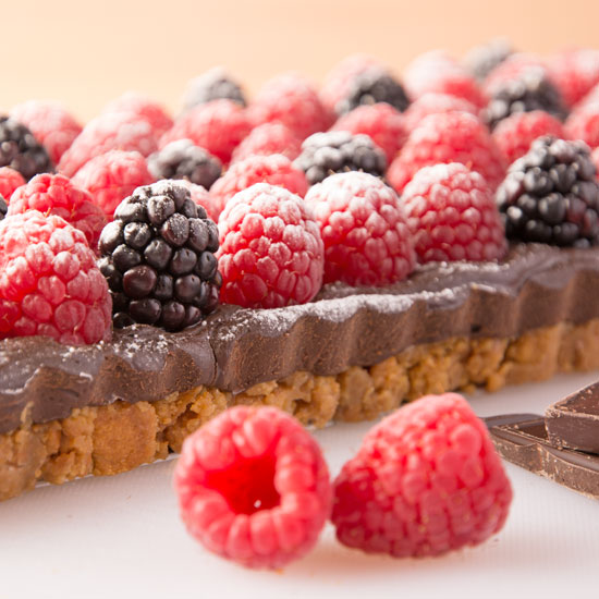 Holly-Cooks-chocolate-raspberry-and-blackberry-landscape-side-of-tart550
