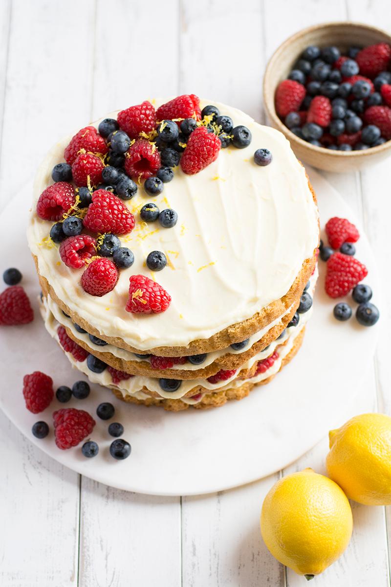Fruit Topped Cake Recipe