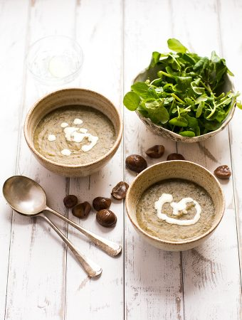 Chestnut and watercress soup